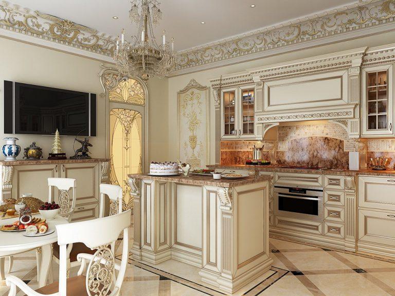Дизайн и интерьер кухни в классическом стиле